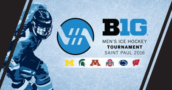 Big Ten Mens Ice Hockey Tournament: Session 1  at Joe Louis Arena
