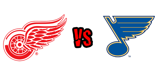 Detroit Red Wings vs. St. Louis Blues at Joe Louis Arena