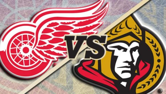 Detroit Red Wings vs. Ottawa Senators at Joe Louis Arena