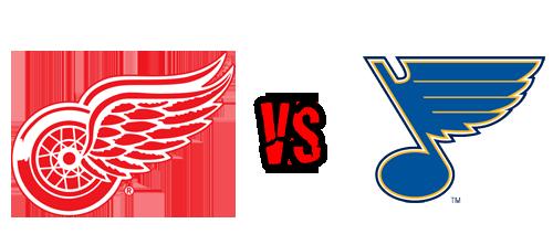 Detroit Red Wings vs. St. Louis Blues at Joe Louis Arena
