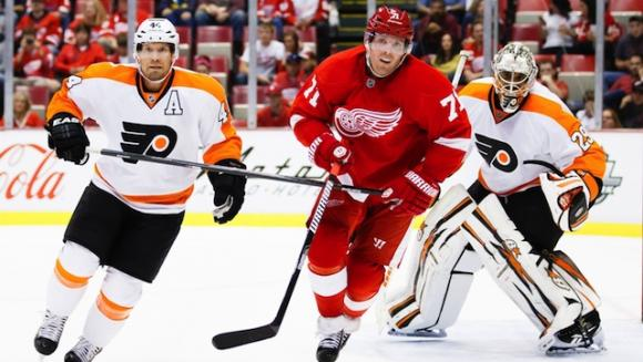 Detroit Red Wings vs. Philadelphia Flyers at Joe Louis Arena