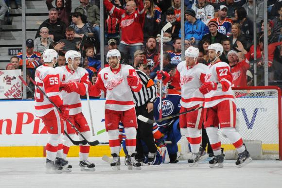 Detroit Red Wings vs. Edmonton Oilers at Joe Louis Arena